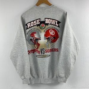 NWOT 2003 Rose Bowl WSU vs UO crewneck sweatshirt